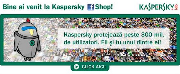 Kaspersky are magazin online pe Facebook