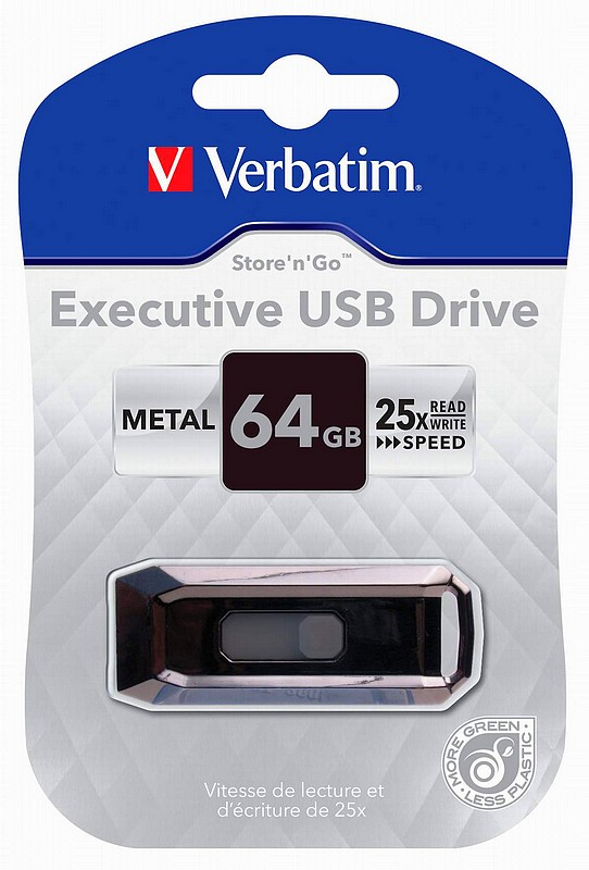 Verbatim USB 2.0 Store 'n' Go Executive, cu stocare de pana la 64GB