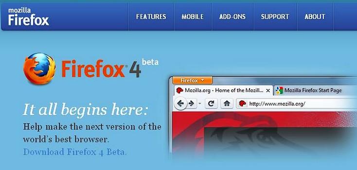 Firefox 4, din februarie
