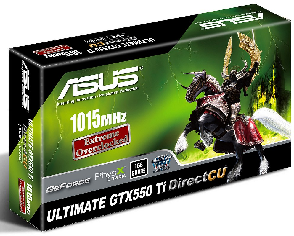 ASUS a lansat placile grafice GTX550 Ti DirectCU Ultimate
