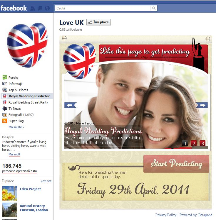 Facebook: nunta regala – poti sa prezici ce o sa se intample ?