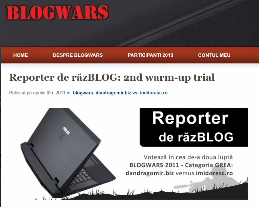 Blogwars Warm-up Trial editia a doua