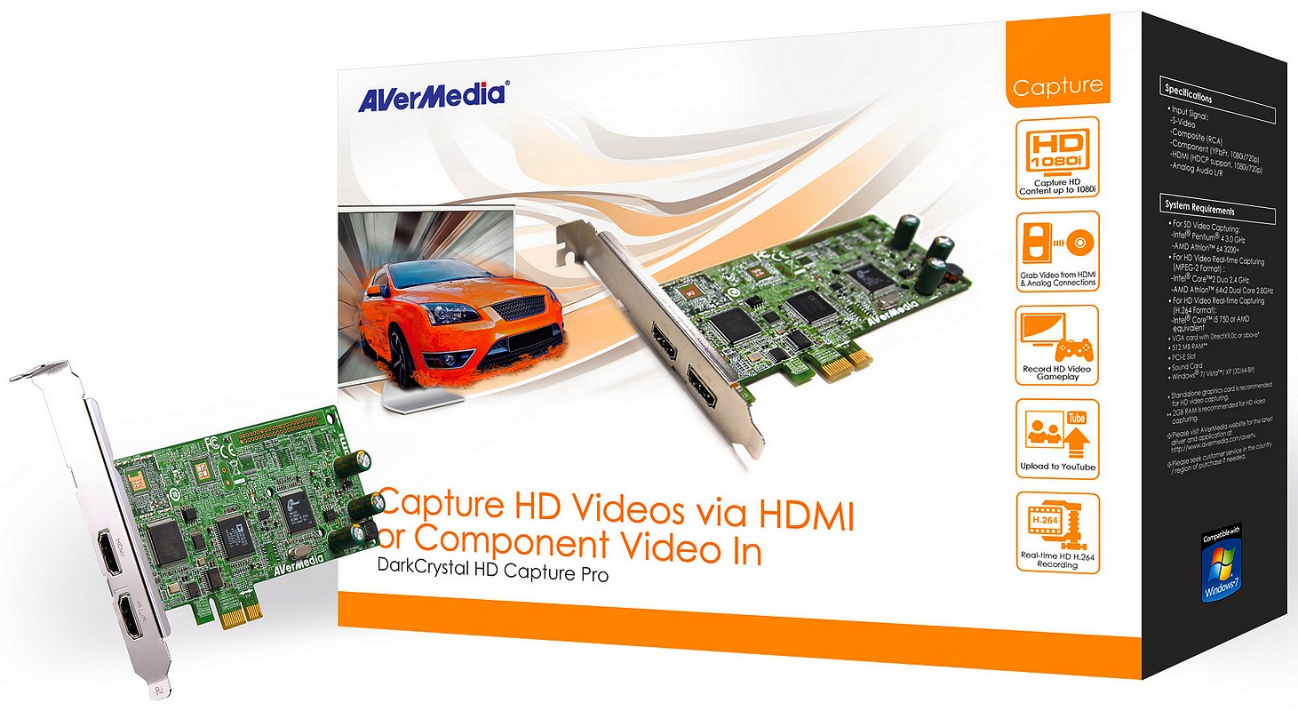 AVerMedia are o noua placa de captura HD 1080i: DarkCrystal HD Capture Pro