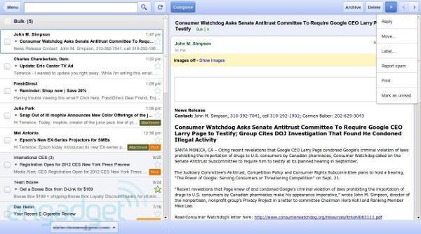 Gmail trece offline… in browser