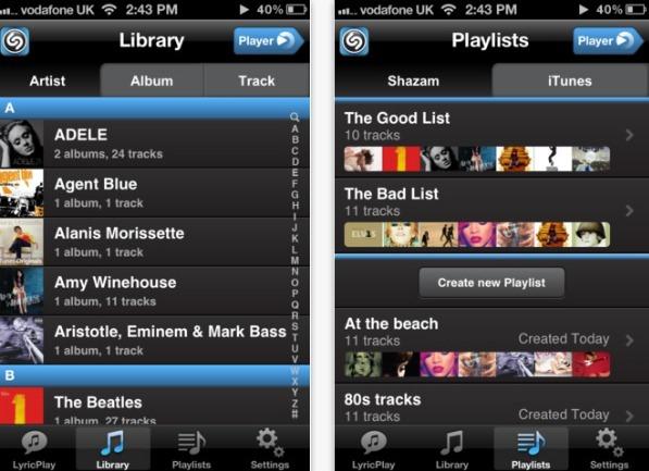 Shazam lanseaza Player: Prima aplicatie noua de lansare a serviciului