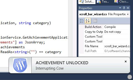 Visual Studio Achievements rasplateste programatorii talentati