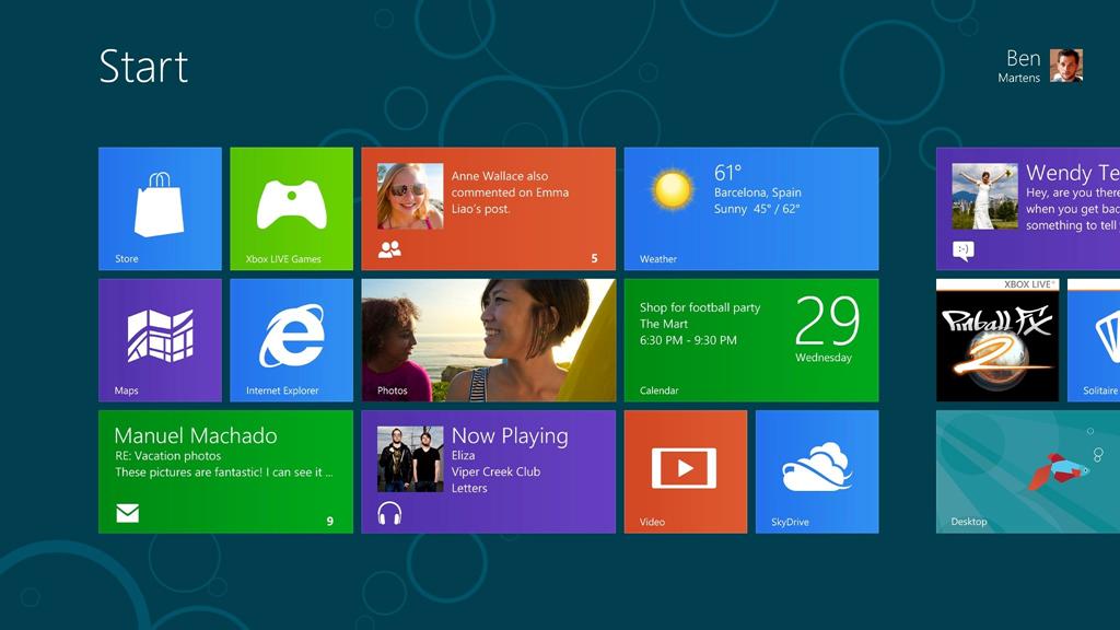 Windows 8 Consumer Preview, disponibil pentru download