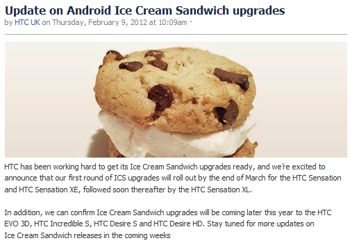 HTC anunta data primelor terminale cu Ice Cream Sandwich. In sfarsit…