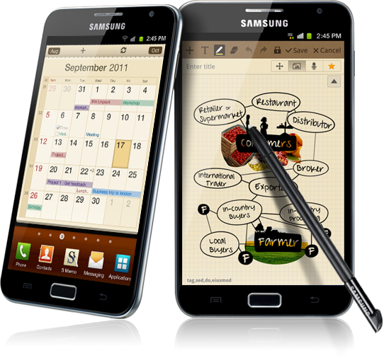 Ice Cream Sandwich vine cu intarzaiere pe Galaxy Note