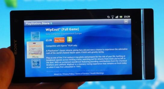 PlayStation Pocket, acum si pe Xperia S