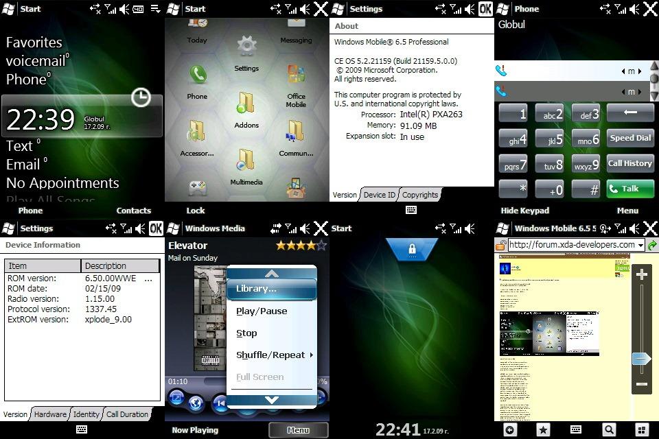 Windows Mobile 6.5 captura ecran