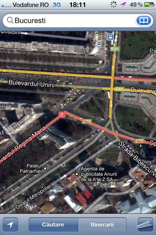 Google iti spune cum e traficul prin oras