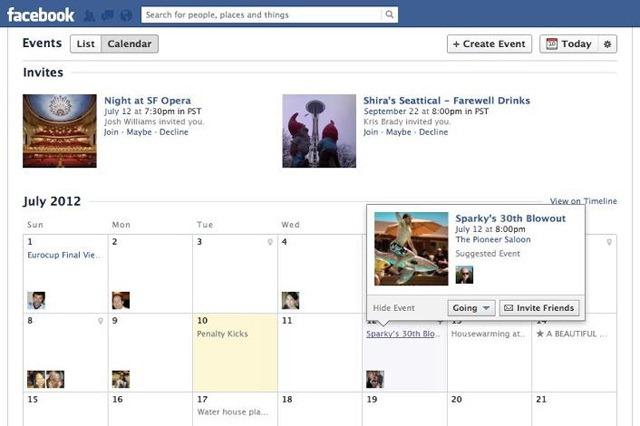Facebook reinventeaza sectiunea de evenimente