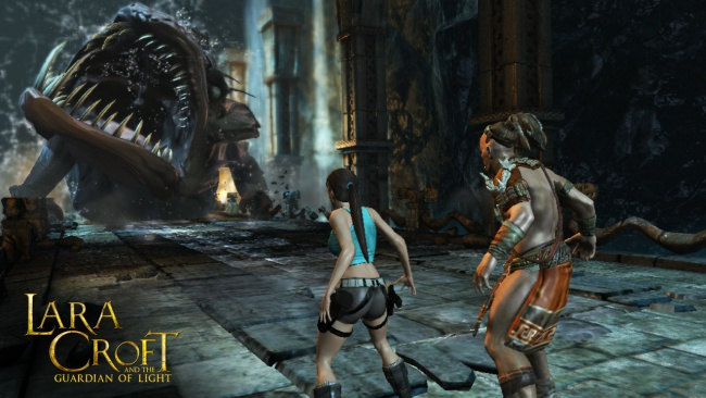 Lara Croft and the Guardian of Light, in curand pe Google Chrome