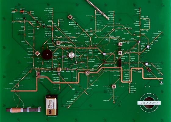 Arta electronica inspirata de metroul din Londra