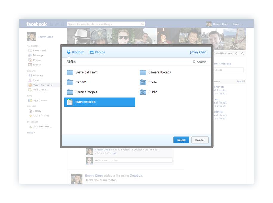 Facebook se aliaza cu Dropbox pentru partajarea de fisiere pe grupuri