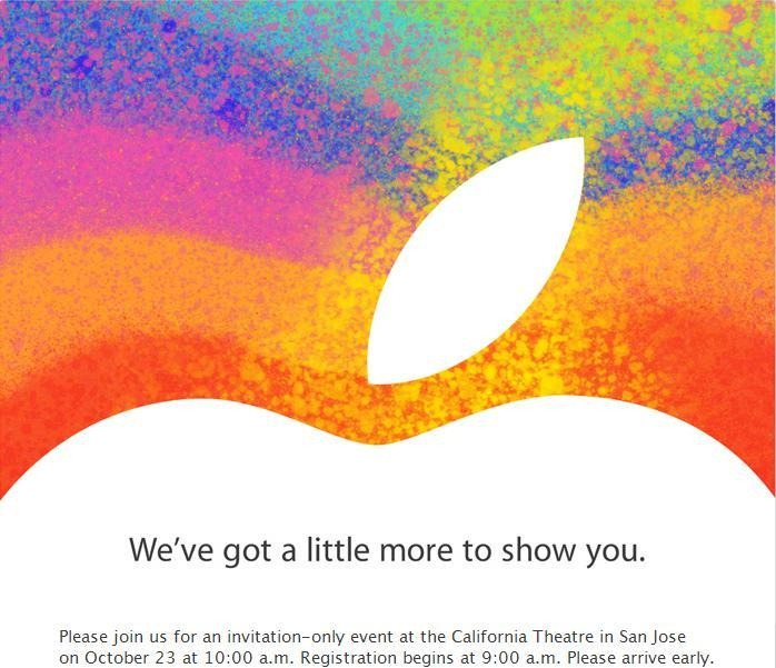 Apple invita la un nou eveniment. iPad Mini cumva?