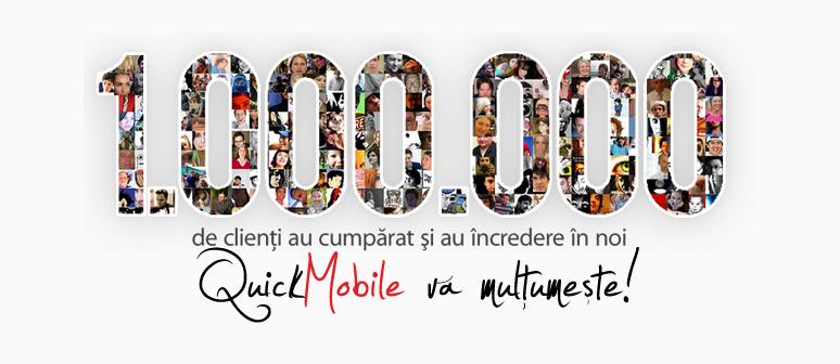 QuickMobile sarbatoreste 1 milion de clienti