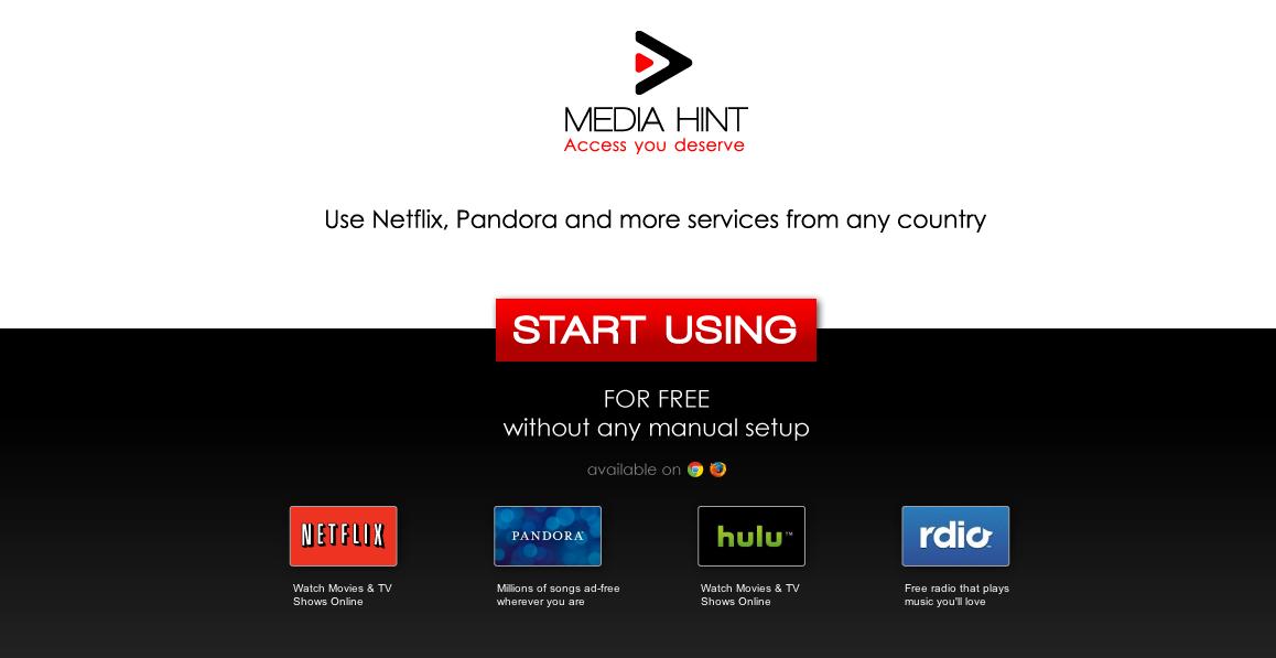 MediaHint – Sau cum poti viziona Netflix si Hulu din Romania