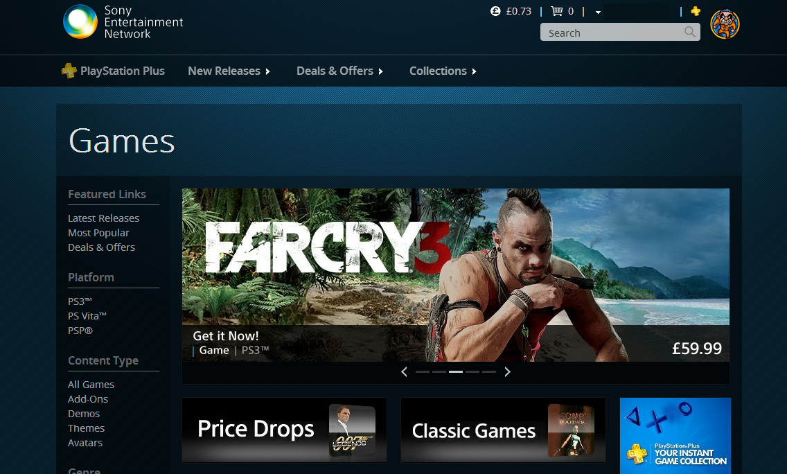 PlayStation Store disponibil acum si pe Web