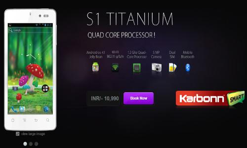 Karbonn Smart S1 Titanium – Un nou smartphone dual sim de varf