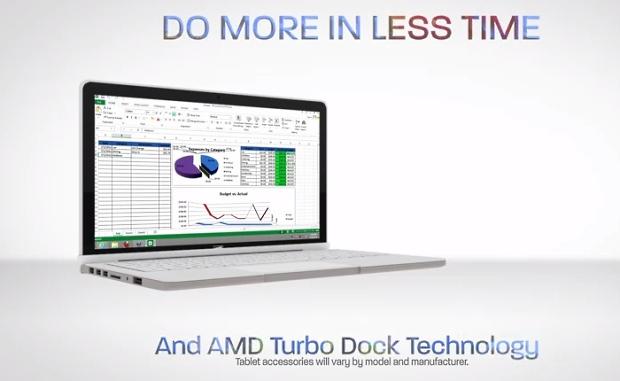 AMD va prezenta tehnologia Turbo Dock la MWC