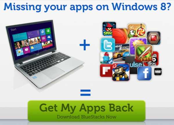 BlueStacks te ajuta sa joci jocurile de Android pe Windows 8