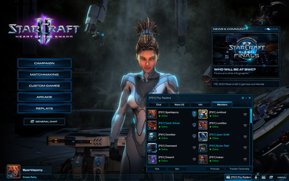 StarCraft II: Heart of the Swarm – Social Features