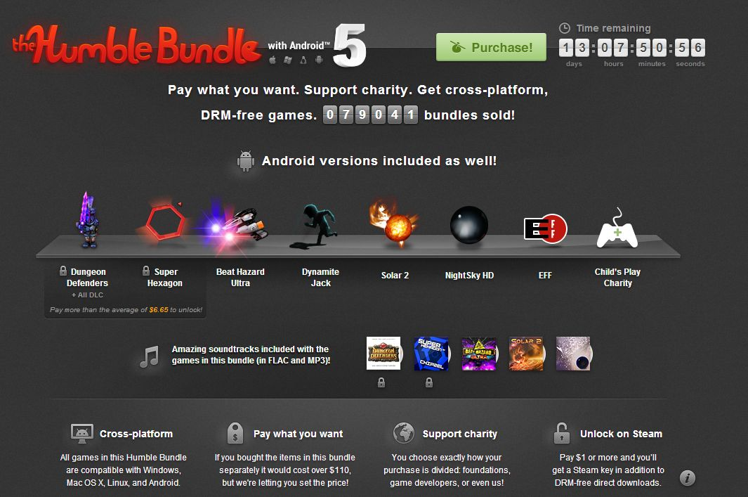 Humble Bundle Update: Humble Bundle With Android 5 Disponibil Acum