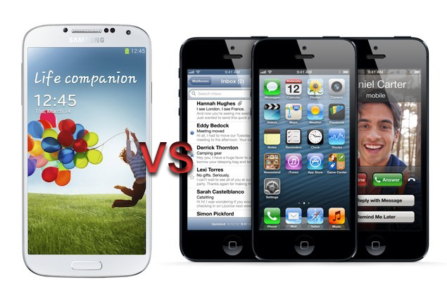 Samsung Galaxy S4 versus Apple iPhone 5 [VIDEO]