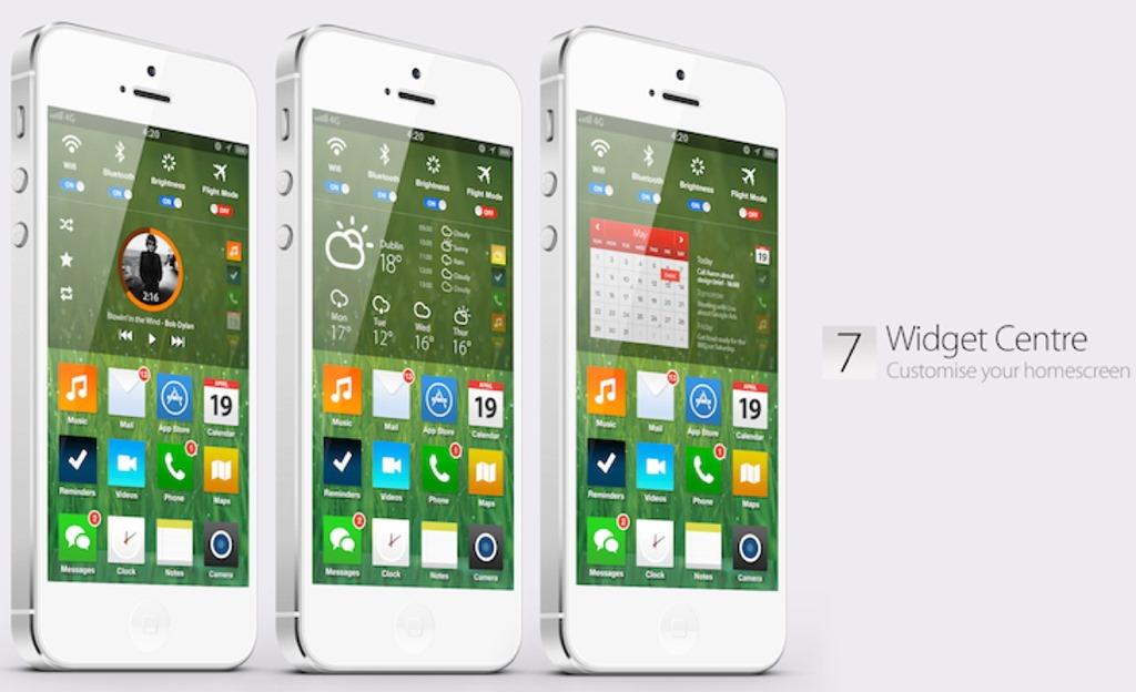 Un concept de iOS 7 care vine cu tot ce trebuie