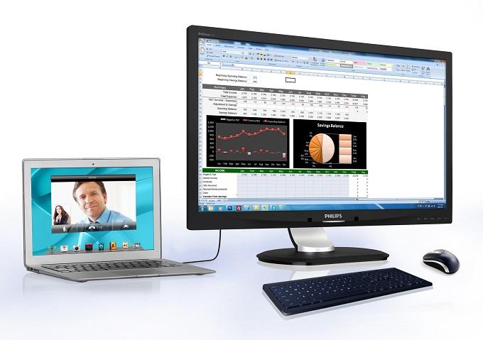Philips a lansat un monitor cu functie de andocare USB