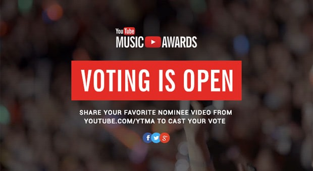 Alegeti-va preferatii la prima editie YouTube Music Awards [VIDEO]