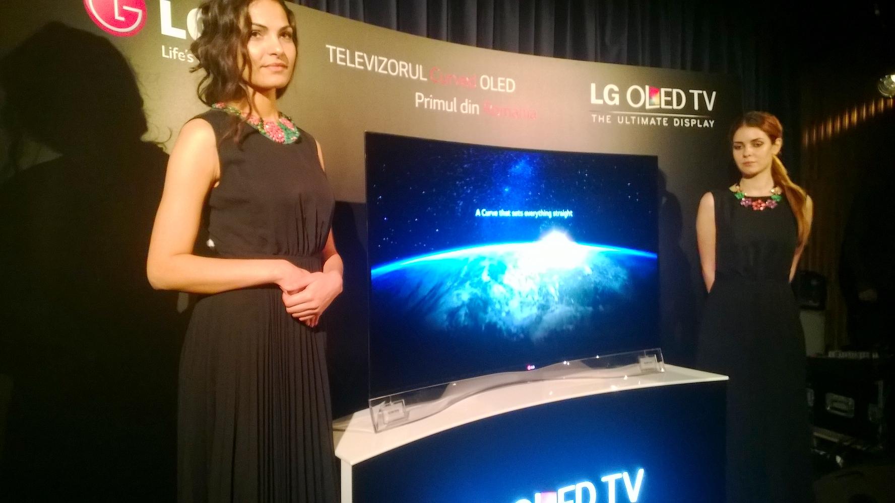 LG lansează televizorul OLED curbat și în România