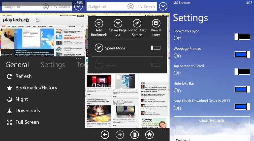 UC Browser, o super aternativă la Internet Explorer pentru WP8