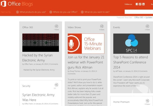 Hacking Microsoft Office: Blogul oficial a fost spart!