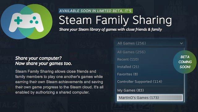Steam Family Sharing te ajută de acum să-ţi împarţi jocurile cu prietenii