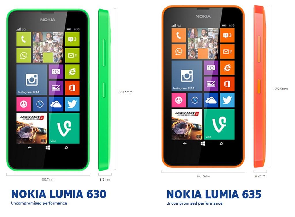 Primele telefoane preinstalate cu WP 8.1 –  Lumia 630, Lumia 635, Lumia 930