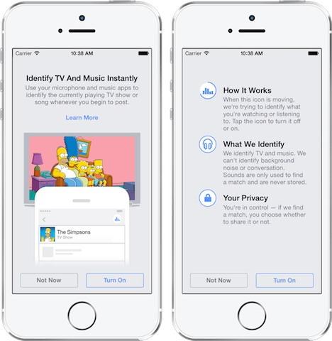 Facebook pentru iOS începe să asculte ce se întâmplă în jurul vostru