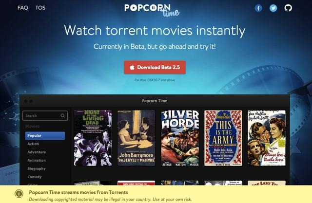 Popcorn Time – popularul player de filme piratate ajunge pe Android
