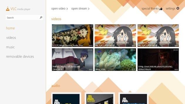VLC Media Player se reinventează pentru Windows 8.1