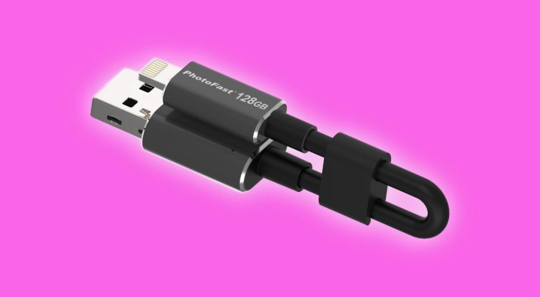 Un nou cablu de încărcare pentru iPhone vine cu 128GB de spaţiu