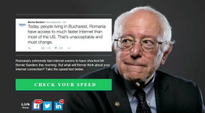 Bernie Speed Test îți verifică viteza de Internet conform standardelor lui Bernie Sanders