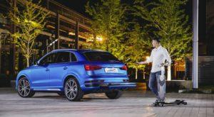 Noul concept de Audi Q3 are un longboard în bara de protecție