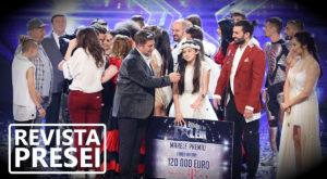 Revista presei: Câștigătoarea Românii au talent, inundații în Moldova, elicopterul SMURD prăbușit