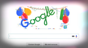 Când este aniversarea Google, motorul de căutare sărbătorește cu un Doodle special