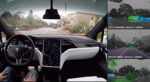 Tesla îți arată ce vede mașina când merge pe pilot automat