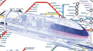 Cum ar putea arăta harta cu rutele trenului Hyperloop One