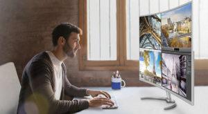 Acesta este cel mai mare monitor 4K cu ecran curbat și este creat pentru profesioniști