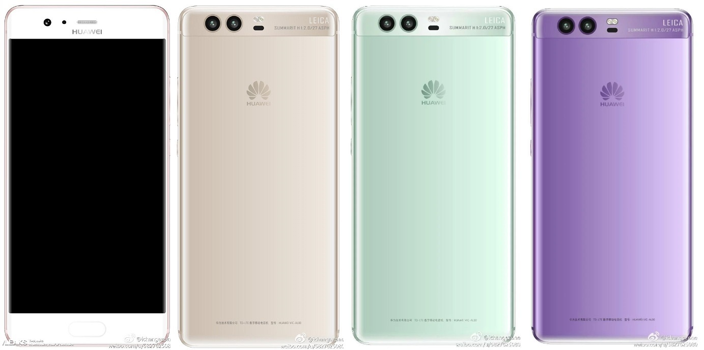Huawei-P10- lite gold-Rose-Gold-green-purple-złoty-zielony-fioletowy